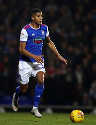 """Ipswich Town's Jordan Spence during the Sky Bet Championship match at Portman Road, Ipswich. PRESS ASSOCIATION Photo. Picture date: Friday November 23, 2018. See PA story SOCCER Ipswich. Photo credit should read: John Walton/PA Wire. RESTRICTIONS: EDITORIAL USE ONLY No use with unauthorised audio, video, data, fixture lists, club/league logos or """"live"""" services. Online in-match use limited to 120 images, no video emulation. No use in betting, games or single club/league/player publications."""