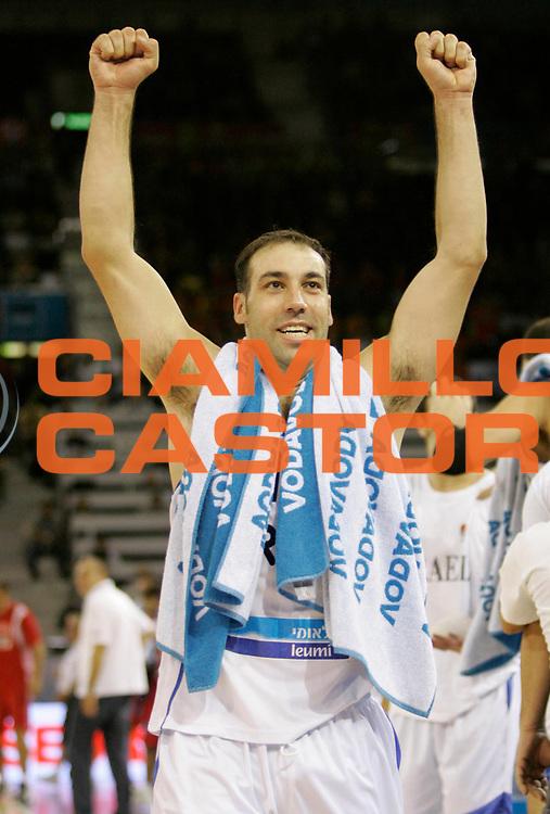 DESCRIZIONE : Madrid Spagna Spain Eurobasket Men 2007 Qualifying Round Israele Croazia Israel Croatia <br /> GIOCATORE : Meir Tapiro <br /> SQUADRA : Israele Israel <br /> EVENTO : Eurobasket Men 2007 Campionati Europei Uomini 2007 <br /> GARA : Israele Croazia Israel Croatia <br /> DATA : 07/09/2007 <br /> CATEGORIA : Esultanza <br /> SPORT : Pallacanestro <br /> AUTORE : Ciamillo&amp;Castoria/M.Kulbis <br /> Galleria : Eurobasket Men 2007 <br /> Fotonotizia : Madrid Spagna Spain Eurobasket Men 2007 Qualifying Round Israele Croazia Israel Croatia <br /> Predefinita :