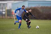 Monifieth Hurricanes (blue and white) v Dryburgh (black) in the Dundee Saturday Morning Football League at the University Grounds, Riverside, Dundee, <br /> <br />  - © David Young - www.davidyoungphoto.co.uk - email: davidyoungphoto@gmail.com