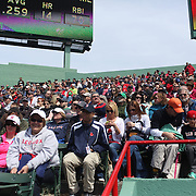 Fans during the Boston Red Sox V Tampa Bay Rays, Major League Baseball game on Jackie Robinson Day, Fenway Park, Boston, Massachusetts, USA, 15th April, 2013. Photo Tim Clayton