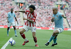 14.05.2011, Wemblay Stadium, ENG, FA CUP FINALE, Manchester City vs Stoke City im Bild Stoke City's Jermaine Pennant and Manchester City's Nigel de Jong during   the 130th  FA Cup Final  between Manchester City and Stoke City at Wembley Stadium in London    on 14/05/2011, EXPA Pictures © 2011, PhotoCredit: EXPA/ IPS/ M. Pozzetti *** ATTENTION *** UK AND FRANCE OUT!