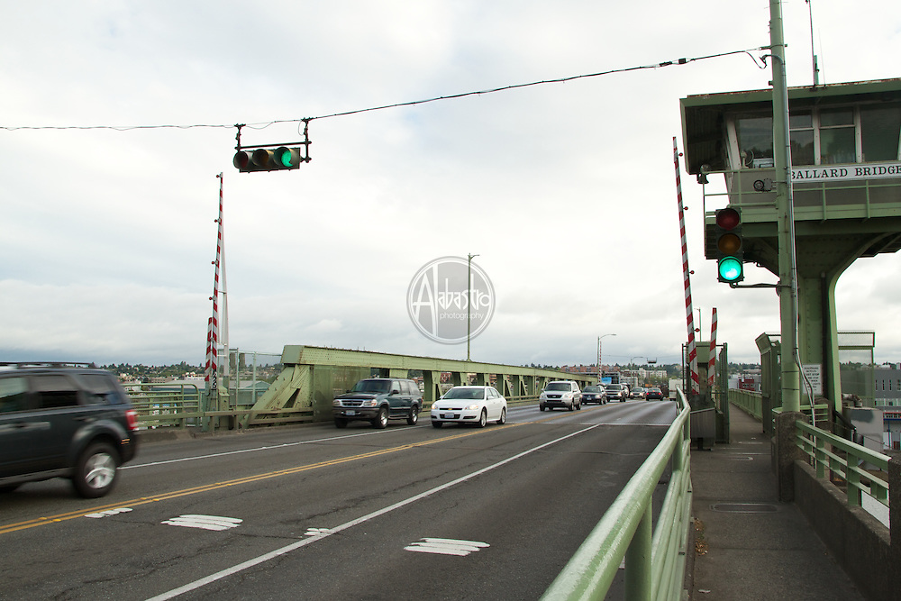 Traffic on the Ballard Bridge.