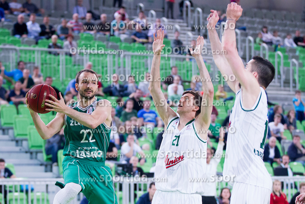 Danijel Vujasinovic of KK Zlatorog Lasko during basketball match between KK Union Olimpija and KK Zlatorog Lasko in semi-final of Nova KBM Champions League 2015/16, on May 23, 2016 in SRC Stozice, Ljubljana, Slovenia. Photo by Urban Urbanc / Sportida