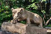 Nittany Lion mascot statue on the main campus of Penn State University, State College, Pennsylvania, USA