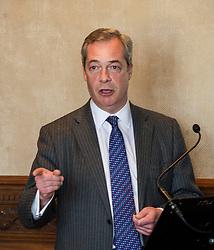Pictured: <br /> UKIP leader Nigel Farage visited Edinburgh today to launch his party's Scottish Parliament election manifesto along side David Coburn. <br /> Ger Harley   EEm 7 April 2016