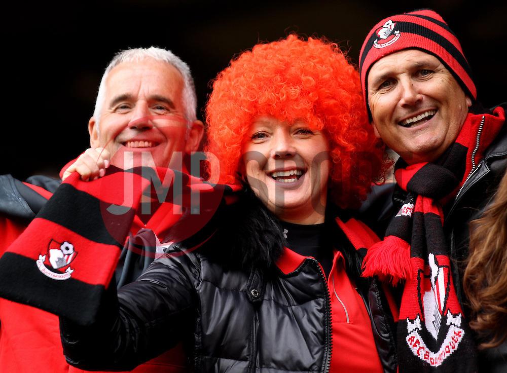 AFC Bournemouth fans - Photo mandatory by-line: Robbie Stephenson/JMP - Mobile: 07966 386802 - 02/05/2015 - SPORT - Football - Charlton - The Valley - Charlton v AFC Bournemouth - Sky Bet Championsip
