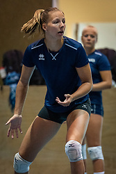 / Finally they were allowed to train in the hall again. The Dutch women's team Volleyball and BTN, the beach team, worked together in training at Papendal, June 26, 2020 in Arnhem