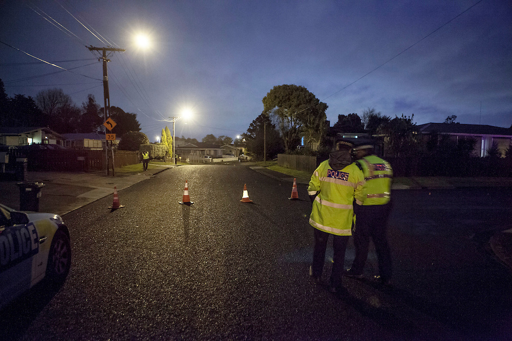 A 20 year old women was seriously injured in a hit and run incident on Stonex Drive in Papatoetoe around 3am, Auckland, New Zealand, Wednesday, September 11,2013. Credit:SNPA / Bradley Ambrose