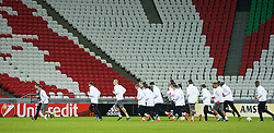 KAZAN, RUSSIA - Wednesday, November 4, 2015: Liverpool players during a training session at the Kazan Arena ahead of the UEFA Europa League Group Stage Group B match against FC Rubin Kazan. (Pic by Oleg Nikishin/Propaganda)