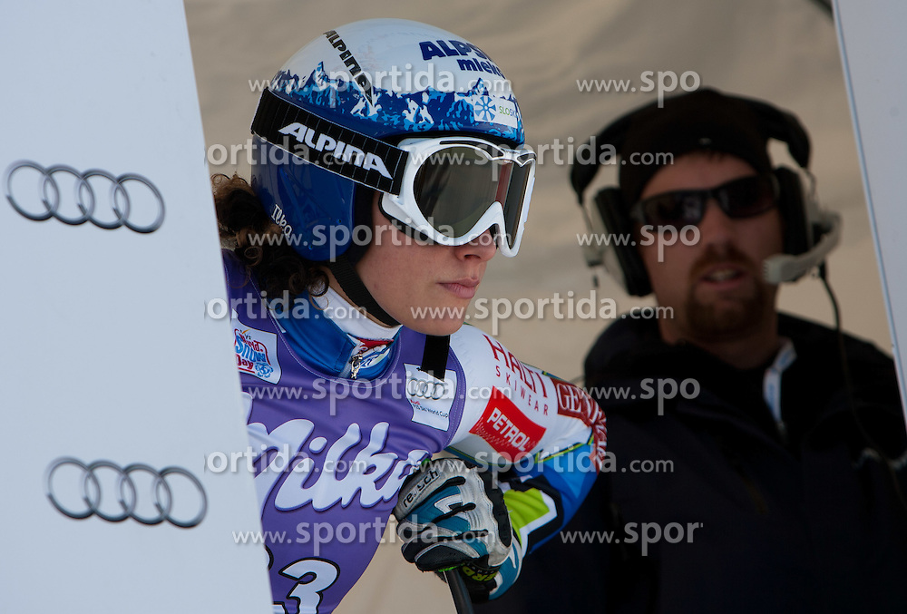 12.01.2012, Pista Olympia delle Tofane, Cortina, ITA, FIS Weltcup Ski Alpin, Damen, Abfahrt, 1. Training, im Bild Ilka Stuhec (SLO) // Ilka Stuhec of Slovenia during ladies downhill 1st training of FIS Ski Alpine World Cup at 'Pista Olympia delle Tofane' course in Cortina, Italy on 2012/01/12. EXPA Pictures © 2012, PhotoCredit: EXPA/ Johann Groder