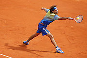 Roland Garros. Paris, France. May 25th 2008..Gustavo KUERTEN plays his last tennis game as a professional player against Paul-Henri MATHIEU....