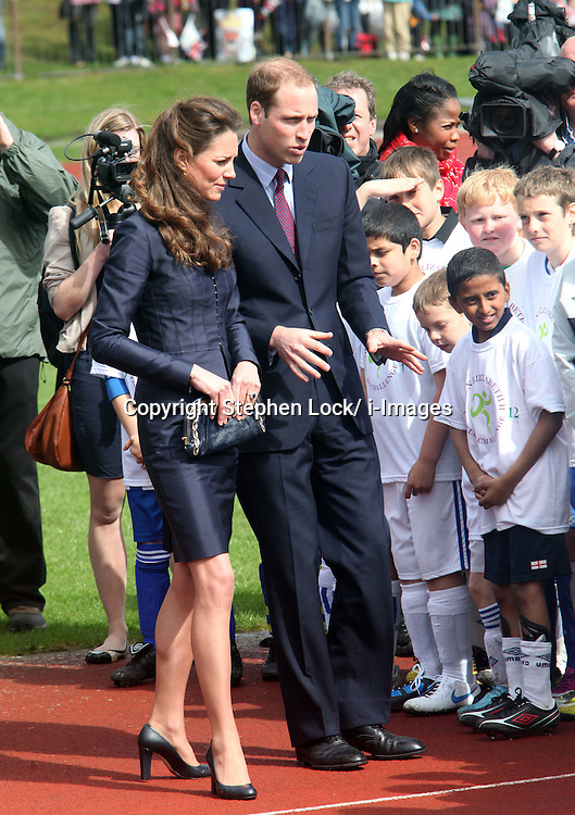 Prince William and Kate Middleton at Witton Country Park in Blackburn, Lancashire . Photo by: Stephen Lock / i-Images