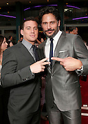 "Actors Channing Tatum and Joe Manganiello attend the premiere of ""Magic Mike"" at Regal Cinemas L.A. Live on Sunday June 24, 2012 in Los Angeles. (Photo by Todd Williamson/Invision/AP)"