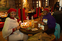 "Nando's Peri-Peri Chicken located at 1447 E. 53rd Street held its grand opening Saturday, January 14th, 2017.<br /> <br /> 9579, 9580 – Tanya Johnson and Lolita Brumfield enjoy at meal.<br /> <br /> Please 'Like' ""Spencer Bibbs Photography"" on Facebook.<br /> <br /> All rights to this photo are owned by Spencer Bibbs of Spencer Bibbs Photography and may only be used in any way shape or form, whole or in part with written permission by the owner of the photo, Spencer Bibbs.<br /> <br /> For all of your photography needs, please contact Spencer Bibbs at 773-895-4744. I can also be reached in the following ways:<br /> <br /> Website – www.spbdigitalconcepts.photoshelter.com<br /> <br /> Text - Text ""Spencer Bibbs"" to 72727<br /> <br /> Email – spencerbibbsphotography@yahoo.com"