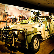 Gulf War vehicle exhibit at the Australian War Memorial in Canberra, ACT, Australia