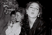 Female student at Ealing Polytechnic Christmas party, London, UK, 1985