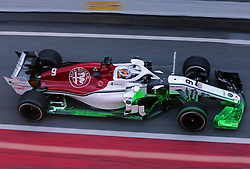 March 6, 2018 - Barcelona, Catalonia, Spain - the Alfa romeo Sauber of Marcus Ericsson during the Formula 1 tests at the Barcelona-Catalunya Circuit, on 06th March 2018 in Barcelona, Spain. (Credit Image: © Joan Valls/NurPhoto via ZUMA Press)