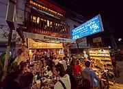 Laos, Vientiane. Chokdee Café Belgian Beer Bar.