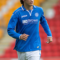 St Johnstone FC Season 2013-14<br /> Murray Davidson<br /> Picture by Graeme Hart.<br /> Copyright Perthshire Picture Agency<br /> Tel: 01738 623350  Mobile: 07990 594431