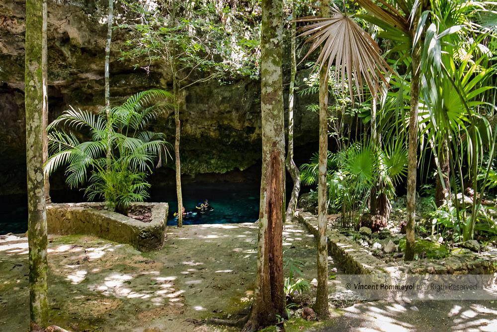 Cenote Tajma Ha, Yucatan peninsula, Mexico.