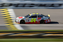 NASCAR Sprint Cup Series auto racing driver Jeff Gordon takes a practice lap at Kansas Speedway in Kansas City, Kan., Saturday, Oct. 17, 2015. (AP Photo/Colin E. Braley)