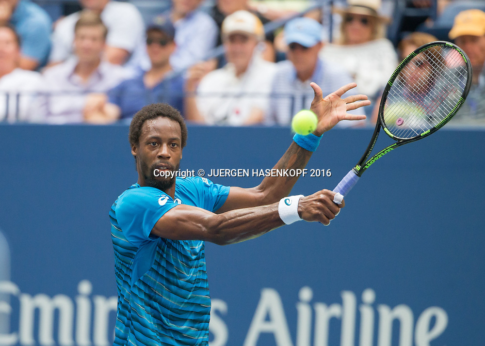 GAEL MONFILS (FRA)<br /> <br /> Tennis - US Open 2016 - Grand Slam ITF / ATP / WTA -  USTA Billie Jean King National Tennis Center - New York - New York - USA  - 9 September 2016.