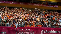 09-07-2017 NED: World Grand Prix Netherlands - Japan, Apeldoorn<br /> Match five of first weekend of group C during the World Grand Prix. Netherlands lost in five sets from Japan / Omnisport hal, sportahl, Oranje