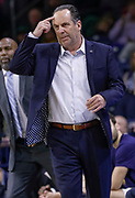 SOUTH BEND, IN - JANUARY 12: Head coach Mike Brey of the Notre Dame Fighting Irish is seen during the game against the Boston College Eagles at Purcell Pavilion on January 12, 2019 in South Bend, Indiana. (Photo by Michael Hickey/Getty Images) *** Local Caption *** Mike Brey
