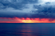 A spectacular spring sunset over Cottesloe beach