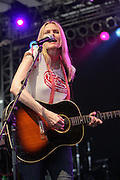 Aimee Mann performs on the forth day of the 2008 Bonnaroo Music & Arts Festival on June 15, 2008 in Manchester, Tennessee. The four-day music festival features a variety of musical acts, arts and comedians..Photo by Bryan Rinnert