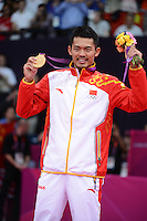 Lin Dan, China, Gold Medal Winner, Mens singles, Olympic Badminton London Wembley 2012