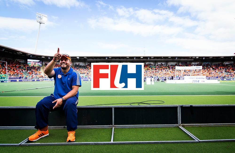 DEN HAAG - Coach Max Caldas na afloop de finale van het WK Hockey tussen Nederland en Australie. Nederland won met 2-0 en is wereldkampioen. COPYRIGHT GEMEENTE DEN HAAG VALERIE KUYPERS