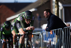 Riejanne Markus (NED) leads Waowdeals Pro Cycling to the finish line at Healthy Ageing Tour 2018 - Stage 3b, a 16 km team time trial starting and finishing in Stadskanaal on April 6, 2018. Photo by Sean Robinson/Velofocus.com