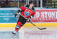 KELOWNA, CANADA - NOVEMBER 23:   Jesse Lees #2 of the Kelowna Rockets skates on the ice against the Regina Pats at the Kelowna Rockets on November 23, 2012 at Prospera Place in Kelowna, British Columbia, Canada (Photo by Marissa Baecker/Shoot the Breeze) *** Local Caption *** Jesse Lees;