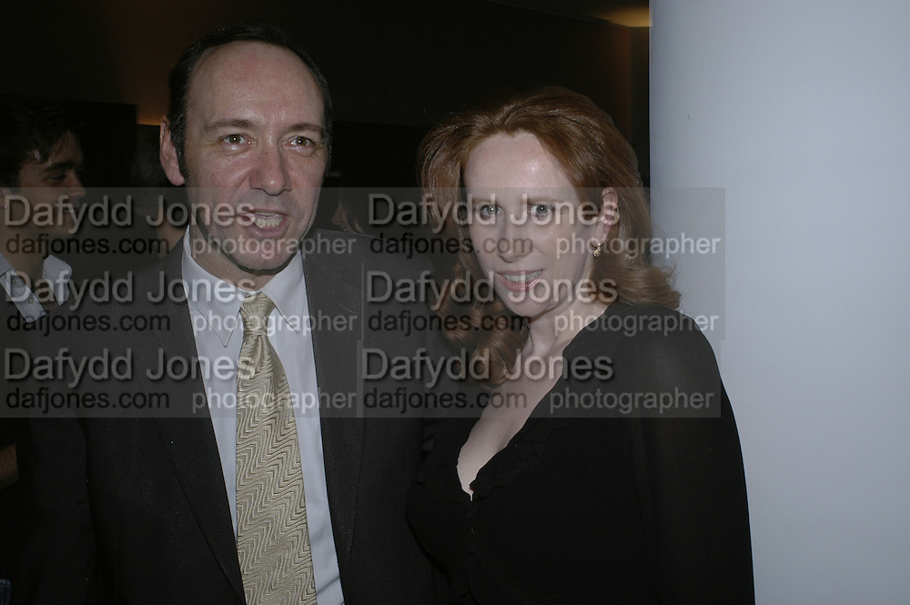 Kevin Spacey and Catherine Tate, The 25th hour post party at the Plaza on the River, 18 Albert Embankment. Culmination of the 24 Hour Plays Celebrity Gala at the Old Vic.London. 8 October 2006.  -DO NOT ARCHIVE-© Copyright Photograph by Dafydd Jones 66 Stockwell Park Rd. London SW9 0DA Tel 020 7733 0108 www.dafjones.com