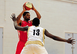 Bristol Academy Flyers' Jordan Ranklin looks to pass the ball - Photo mandatory by-line: Dougie Allward/JMP - Tel: Mobile: 07966 386802 23/03/2013 - SPORT - Basketball - WISE Basketball Arena - SGS College - Bristol -  Bristol Academy Flyers V Essex Leopards