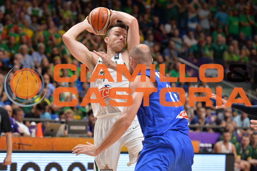 Adas Juskevicius<br /> Nazionale Italiana Maschile Senior<br /> Eurobasket 2017 - Group Phase<br /> Lituania - Italia<br /> FIP 2017<br /> Tel Aviv, 03/09/2017<br /> Foto Ciamillo - Castoria/ M.Longo