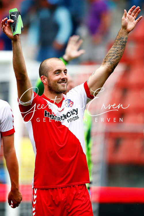 Onderwerp/Subject: FC Utrecht v AZ Alkmaar - Eredivisie<br /> Reklame:  <br /> Club/Team/Country: <br /> Seizoen/Season: 2013/2014<br /> FOTO/PHOTO: Steve DE RIDDER of FC Utrecht celebrating after the match ( 2 - 0 ). (Photo by PICS UNITED)<br /> <br /> Trefwoorden/Keywords: <br /> #02 #09 $94 &plusmn;1371811811150<br /> Photo- &amp; Copyrights &copy; PICS UNITED <br /> P.O. Box 7164 - 5605 BE  EINDHOVEN (THE NETHERLANDS) <br /> Phone +31 (0)40 296 28 00 <br /> Fax +31 (0) 40 248 47 43 <br /> http://www.pics-united.com <br /> e-mail : sales@pics-united.com (If you would like to raise any issues regarding any aspects of products / service of PICS UNITED) or <br /> e-mail : sales@pics-united.com   <br /> <br /> ATTENTIE: <br /> Publicatie ook bij aanbieding door derden is slechts toegestaan na verkregen toestemming van Pics United. <br /> VOLLEDIGE NAAMSVERMELDING IS VERPLICHT! (&copy; PICS UNITED/Naam Fotograaf, zie veld 4 van de bestandsinfo 'credits') <br /> ATTENTION:  <br /> &copy; Pics United. Reproduction/publication of this photo by any parties is only permitted after authorisation is sought and obtained from  PICS UNITED- THE NETHERLANDS
