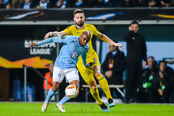February 14, 2019 - MalmÅ, Sweden - 190214 Fouad Bachirou of MalmÅ¡ FF and Olivier Giroud of Chelsea  during the Europa league match between MalmÅ¡ FF and Chelsea on February 14, 2019 in MalmÅ¡..Photo: Petter Arvidson / BILDBYRN / kod PA / 92225 (Credit Image: © Petter Arvidson/Bildbyran via ZUMA Press)
