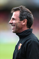 Watford manager Gianfranco Zola  - Photo mandatory by-line: Nigel Pitts-Drake/JMP - Tel: Mobile: 07966 386802 10/08/2013 - SPORT - FOOTBALL - Vicarage Road - Hertfordshire -  Watford v AFC Bournemouth - Sky Bet Championship