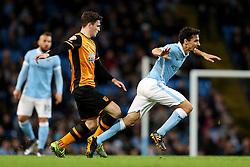 Jesus Navas of Manchester City is tripped - Mandatory byline: Matt McNulty/JMP - 01/12/2015 - Football - Etihad Stadium - Manchester, England - Manchester City v Hull City - Capital One Cup - Quarter-final