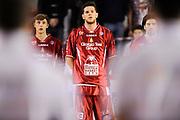 DESCRIZIONE : Roma Lega A 2014-15 <br /> Acea Virtus Roma - Giorgio Tesi Group Pistoia<br /> GIOCATORE : Tommaso Bianchi Valerio Amoroso Ariel Filloy<br /> CATEGORIA : pre game inno <br /> SQUADRA : Giorgio Tesi Group Pistoia<br /> EVENTO : Campionato Lega A 2014-2015 <br /> GARA : Acea Virtus Roma - Giorgio Tesi Group Pistoia<br /> DATA : 22/03/2015<br /> SPORT : Pallacanestro <br /> AUTORE : Agenzia Ciamillo-Castoria/N. Dalla Mura<br /> Galleria : Lega Basket A 2014-2015  <br /> Fotonotizia : Roma Lega A 2014-15 Acea Virtus Roma - Giorgio Tesi Group Pistoia