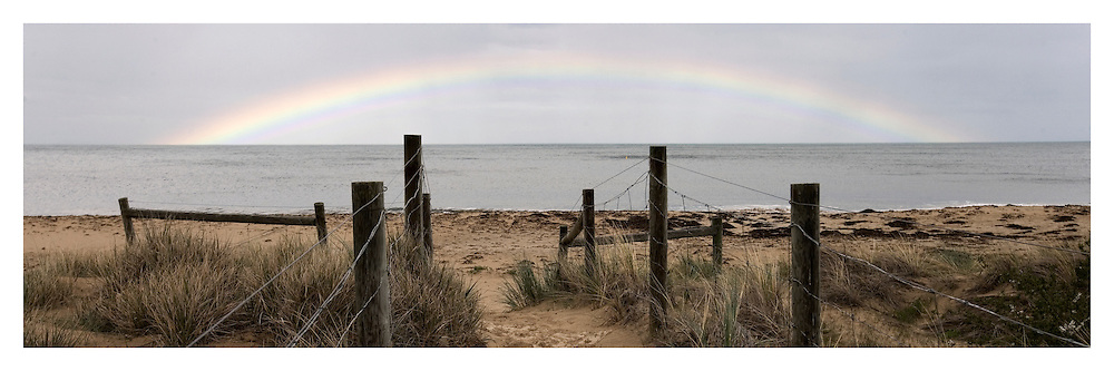 Rainbow over Zeally Beach at Torquay