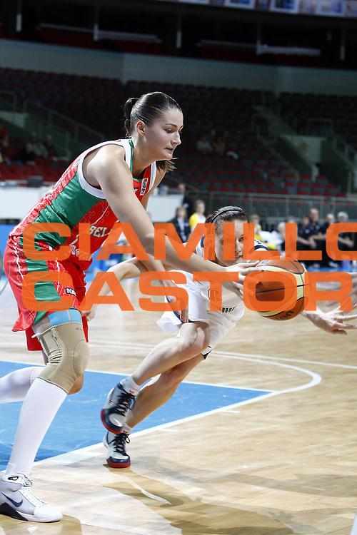 DESCRIZIONE : Riga Latvia Lettonia Eurobasket Women 2009 Quarter Final Slovacchia Bielorussia Slovak Republic Belarus<br /> GIOCATORE : Anastasiya Verameyenka<br /> SQUADRA : Bielorussia Belarus Slovacchia Slovak Republic<br /> EVENTO : Eurobasket Women 2009 Campionati Europei Donne 2009 <br /> GARA : Slovacchia Bielorussia Slovak Republic Belarus<br /> DATA : 17/06/2009 <br /> CATEGORIA : lotta <br /> SPORT : Pallacanestro <br /> AUTORE : Agenzia Ciamillo-Castoria/E.Castoria<br /> Galleria : Eurobasket Women 2009 <br /> Fotonotizia : Riga Latvia Lettonia Eurobasket Women 2009 Quarter Final Slovacchia Bielorussia Slovak Republic Belarus<br /> Predefinita :
