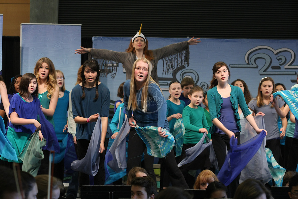"Seattle Opera: Heron and Salmon Girl.  Seattle Opera's Earth Day performance of ""Heron and the Salmon Girl"" featuring Seattle Youth Symphony, Seattle Opera soloists and Youth Chorus."