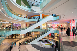 Interior of modern Al Kout mall in Fahaheel, Kuwait, Middle East.