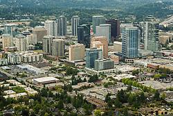 North America, United States, Washington, Bellevue, downtown Bellevue (aerial view)