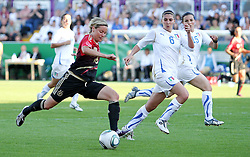 03.06.2011, Osnatel Arena, Osnabrueck, GER, WM 2012 FSP,  Deutschland (GER) vs Italien (ITA), .im Bild Martina Müller (GER) vs Laura Neboli (ITA) during the WM 2011 Friendly Game, Germany vs Italy, at Osnatel Arena, Osnabrück, 2011-06-03, .EXPA Pictures © 2011, PhotoCredit: EXPA/ nph/  Hessland       ****** out of GER / SWE / CRO  / BEL ******