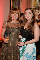 Left to right, LORRAINE KELLY and her daughter ROSIE SMITH at a party to celebrate the 21st anniversary of The Roar Group hosted by Jonathan Shalit held at Avenue, 9 St.James's Street, London on 21st September 2015.