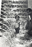 Water fountain girl from the Los Angeles downtown library 1993.